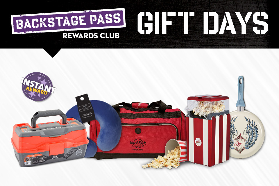 backstage pass rewards club gift days january