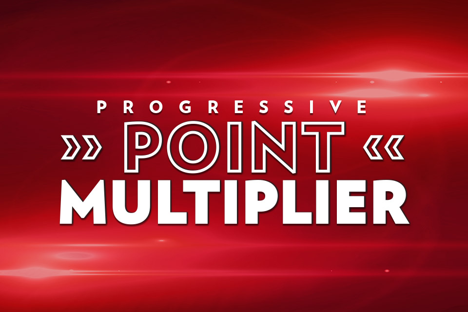 progressive point multiplier sioux city promotions
