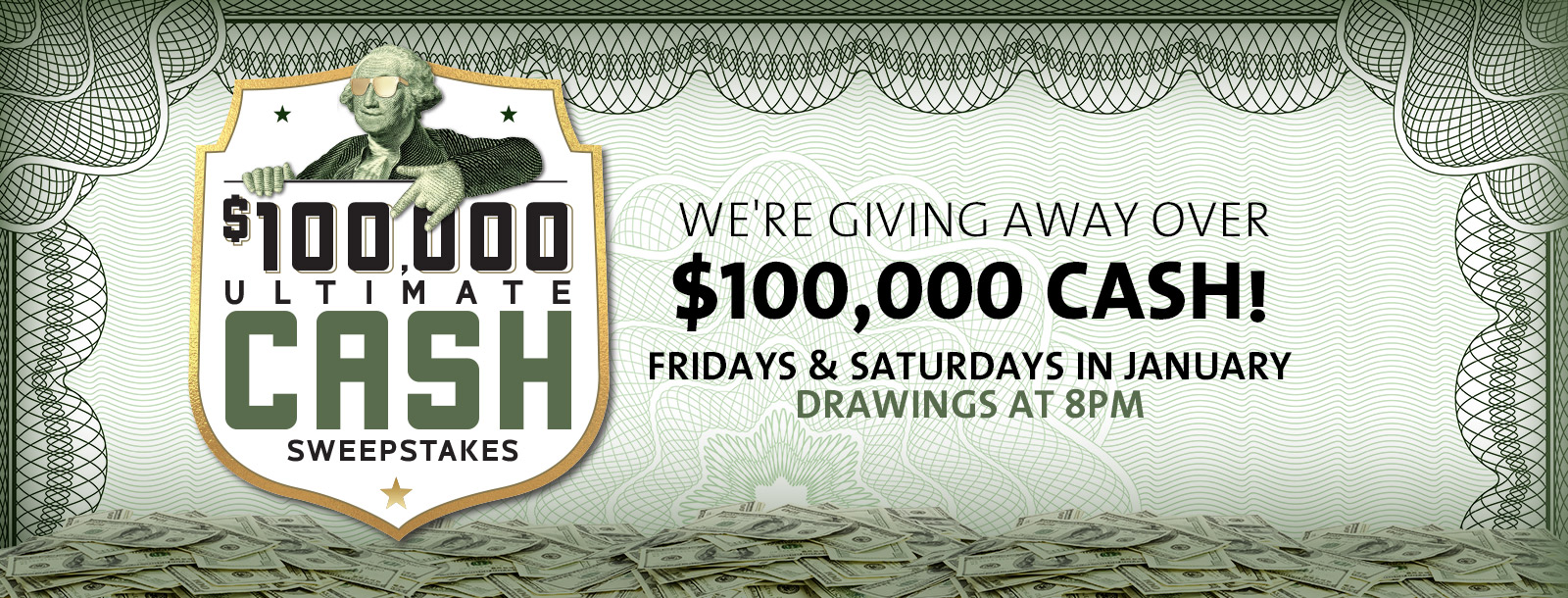 100k ultimate cash sweepstakes promotion