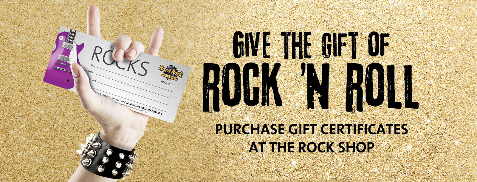 rock shop gift certificates