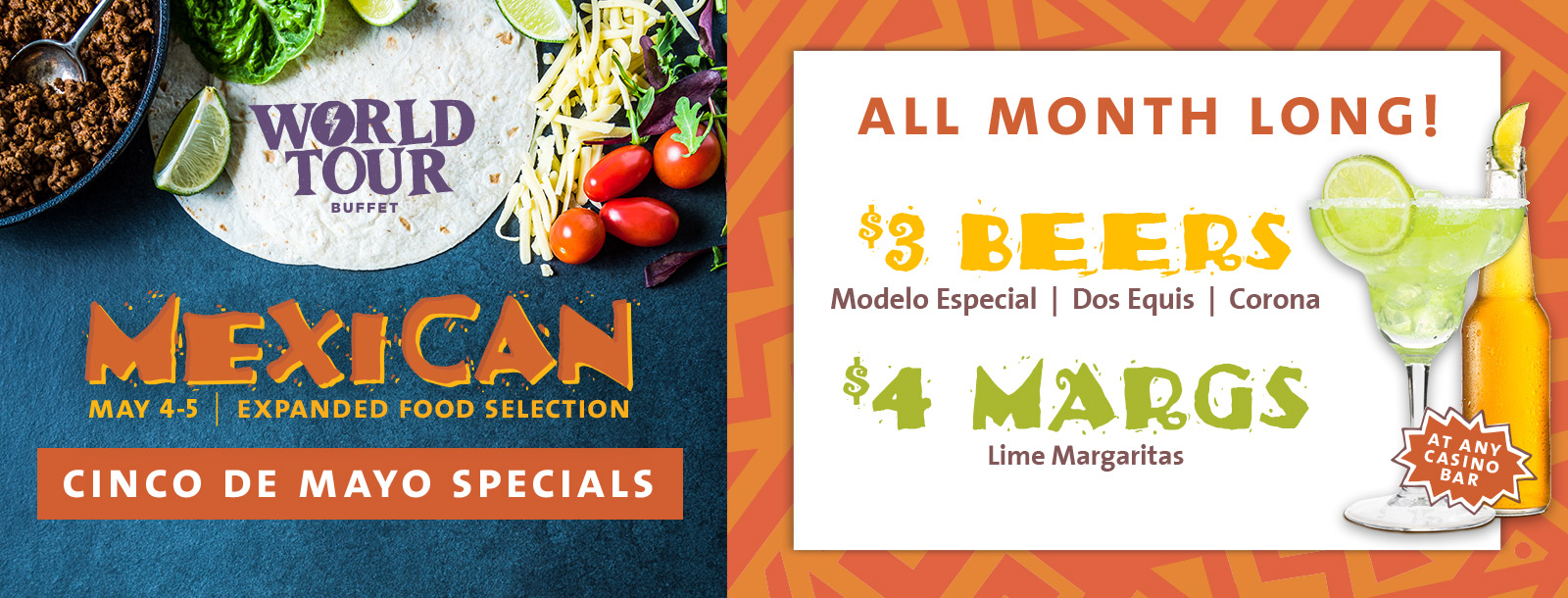 world tour buffet cinco de mayo specials