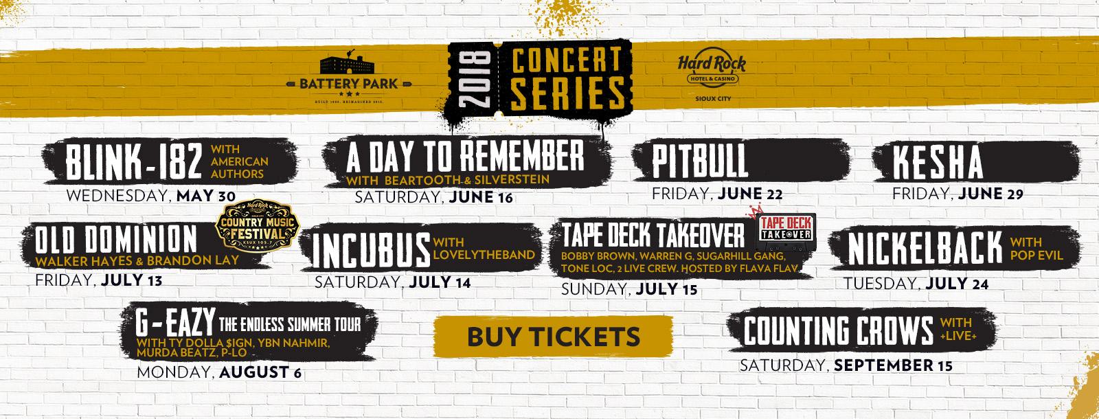 battery park 2018 concert series