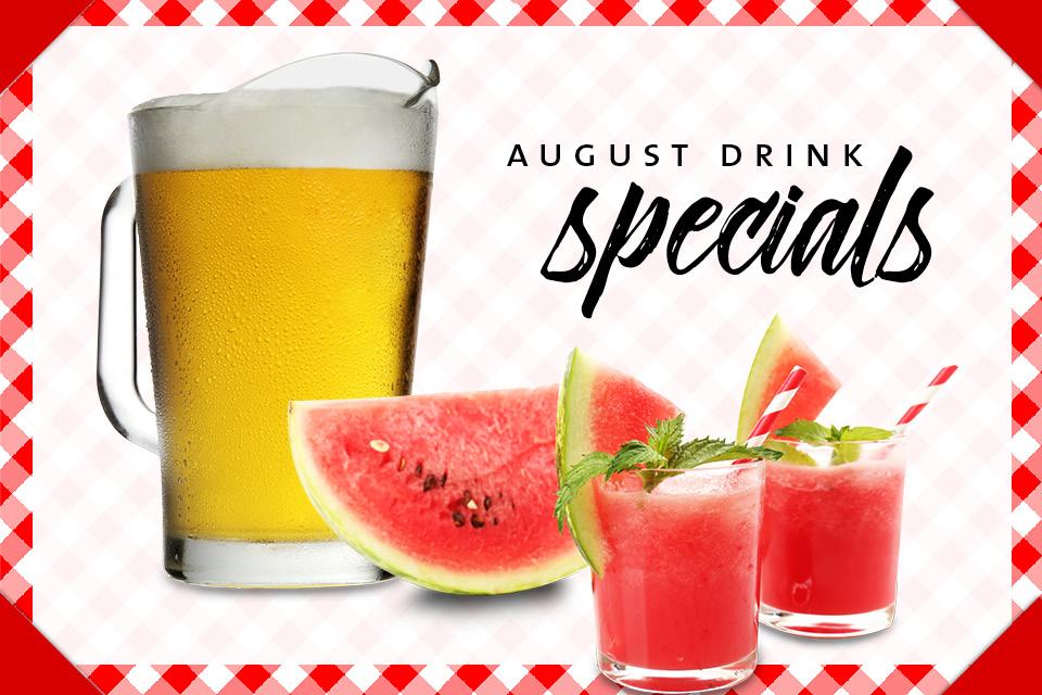 august drink specials