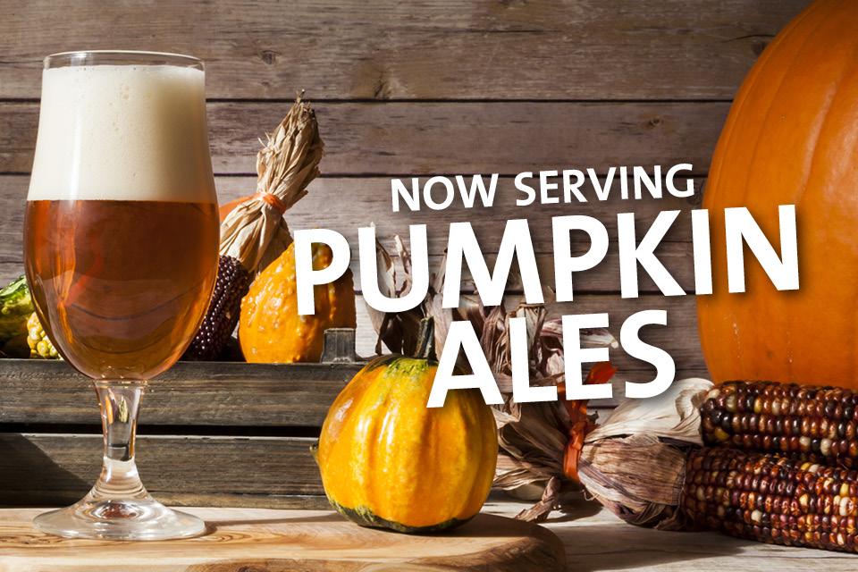now serving pumpkin ales