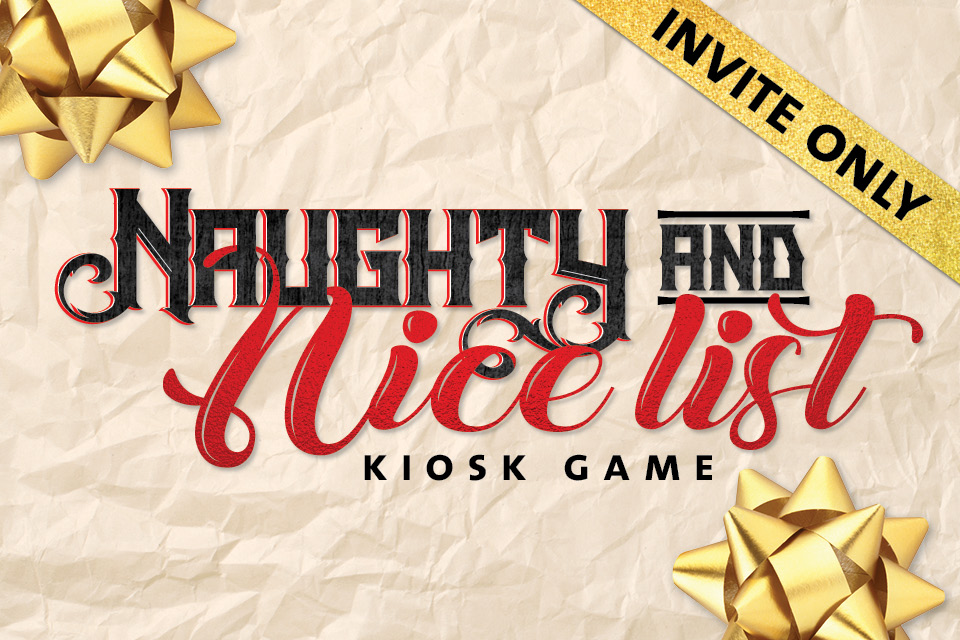 naughty and nice list kiosk game