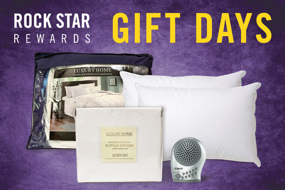 rock star rewards gift days
