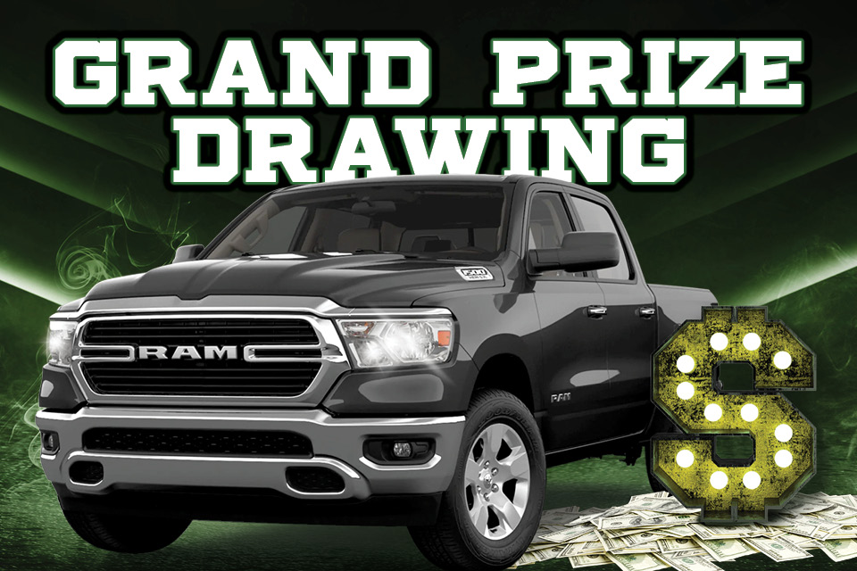 trucks and bucks grand prize drawing