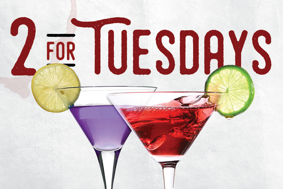2 for tuesdays promotion