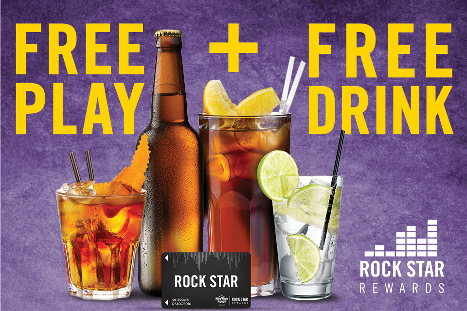 rock star rewards free play+free drink