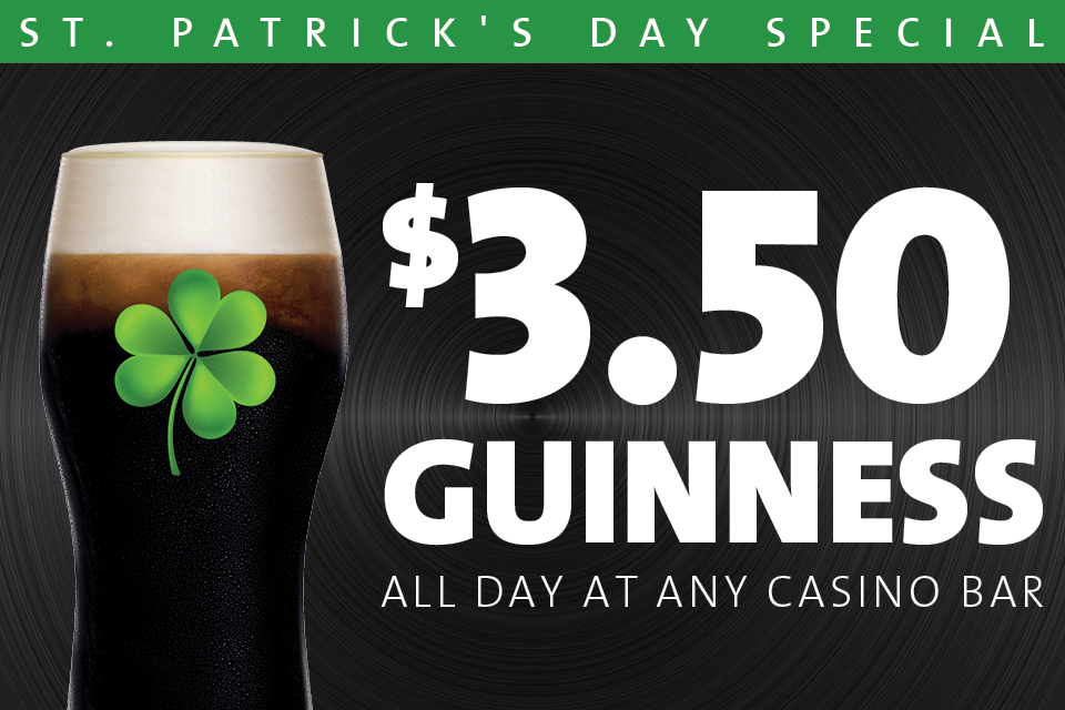 sioux city st.patrick's day casino bar specials