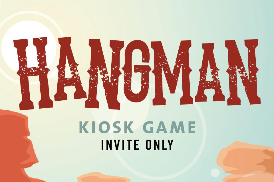 hangman kiosk game