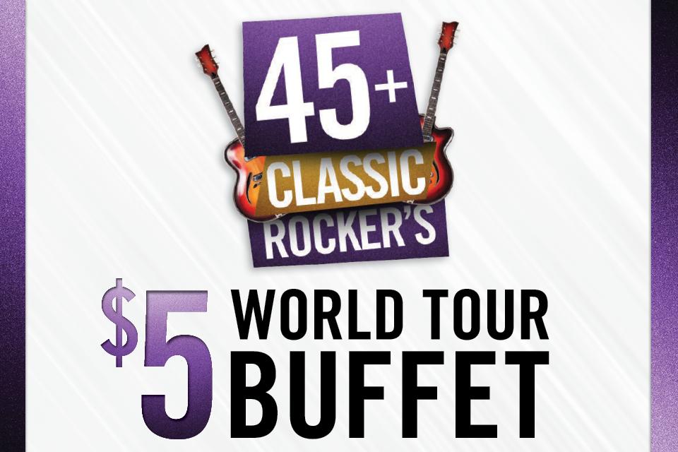 45 classic rockers buffet promotion