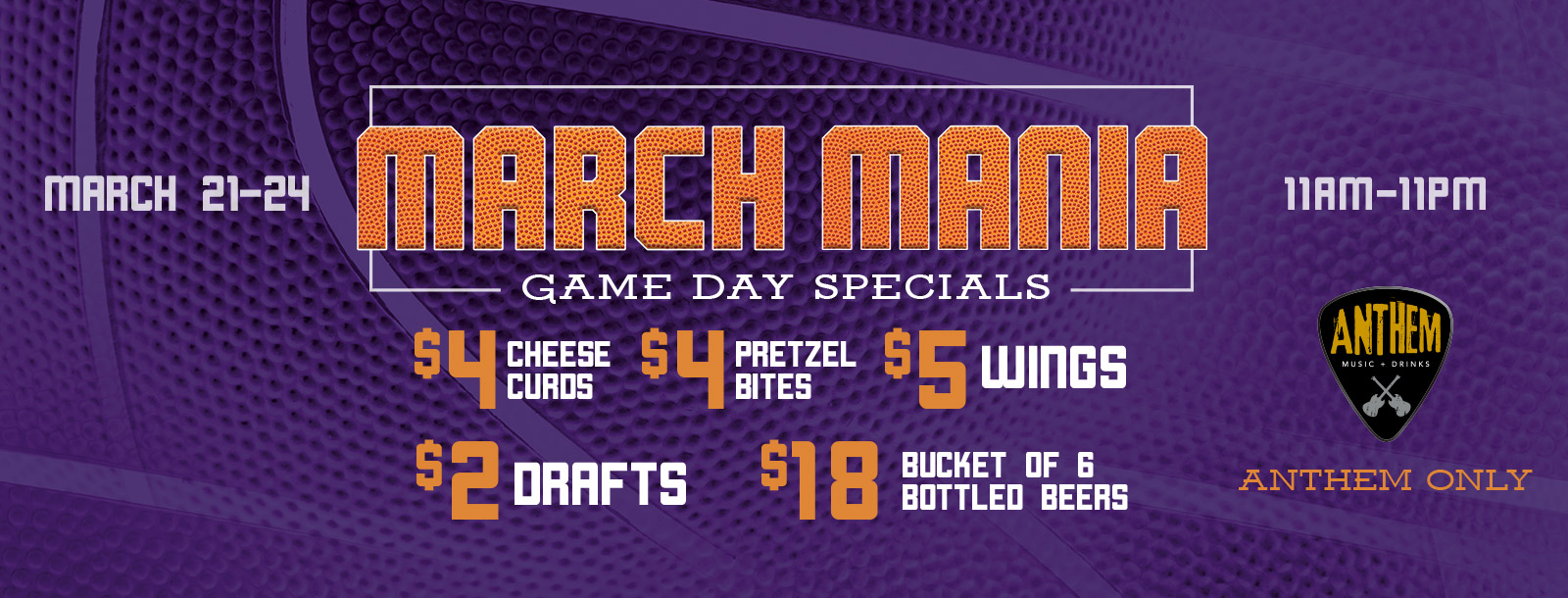march mania game day specials