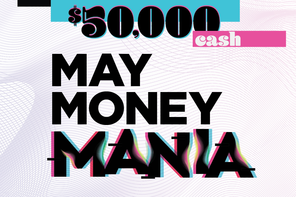 50,000 cash may money mania iowa entertainment