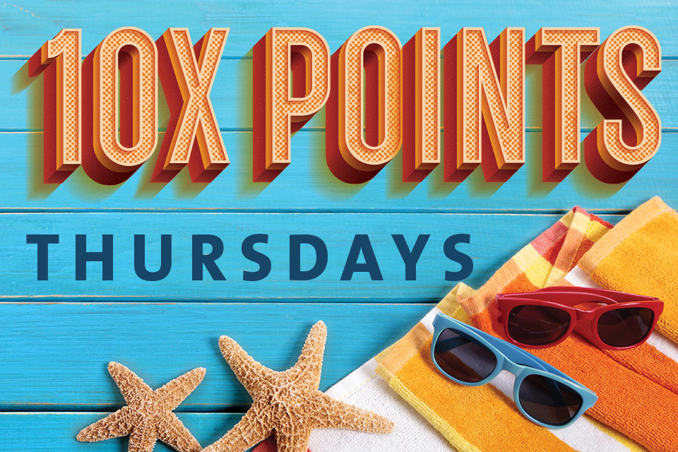10x points thursdays sioux city attractions