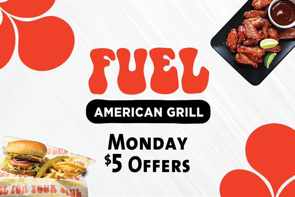 fuel american grill monday $5 offers sioux city restaurant deals