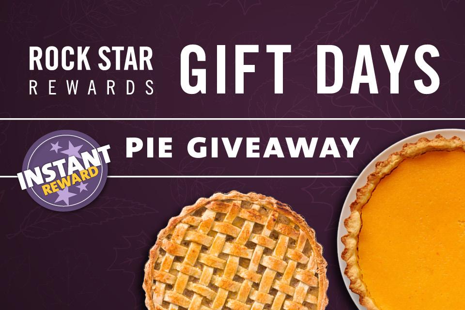 rock star rewards pie giveaway