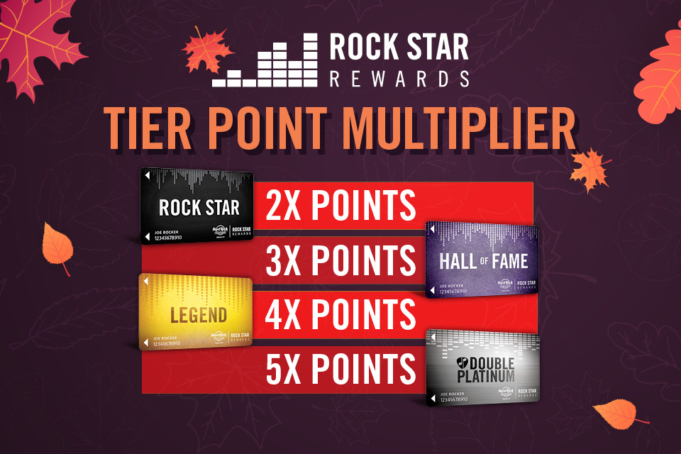 tier point multiplier hard rock