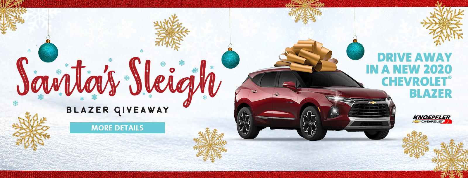 santas sleigh promotion