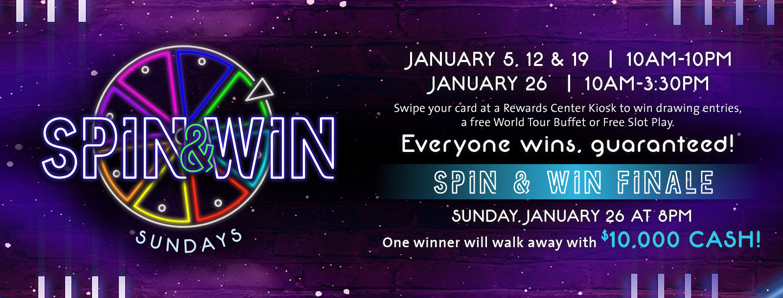 spin win sunday promotion