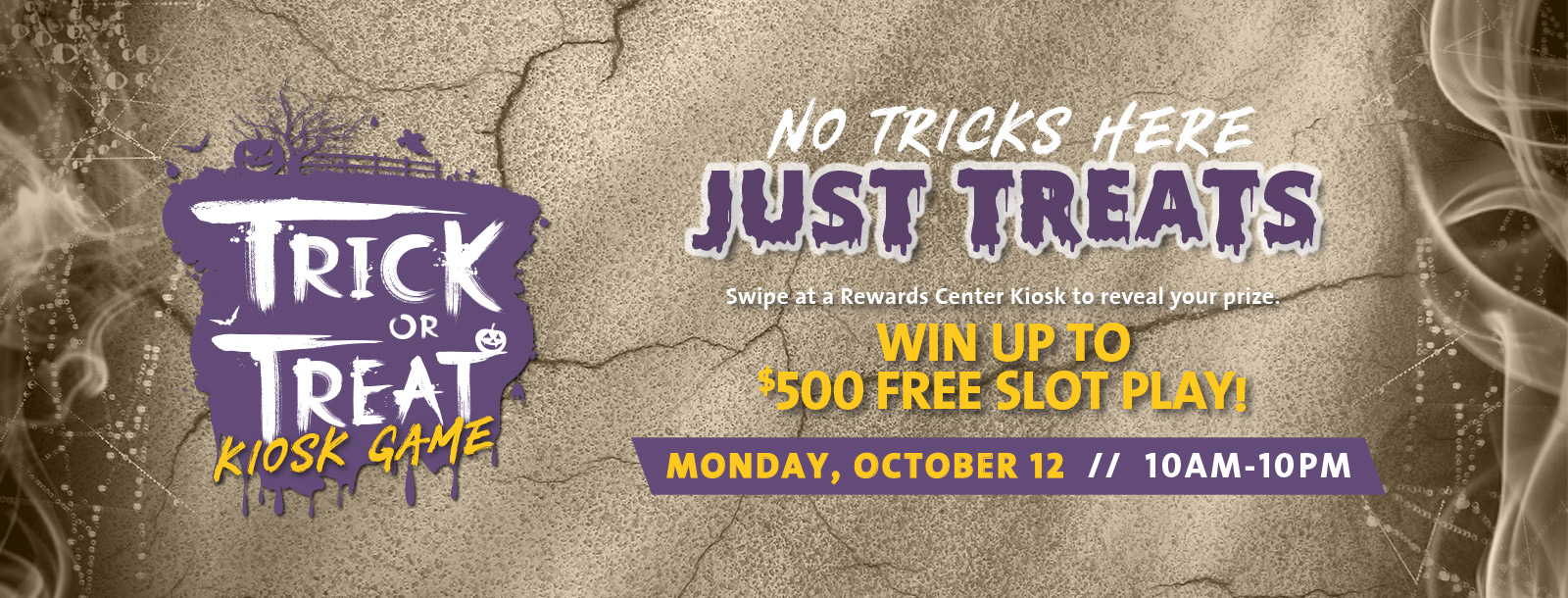 trick or treat kiosk game sioux city promotions